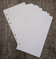 Personal planner 40 dot-grid note sheets refill, white - vf planner pages