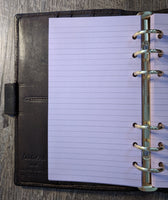 Personal planner 40 lined note sheets refill, lavender