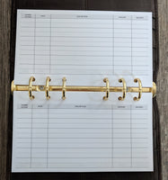 Personal planner 40 expense sheets refill