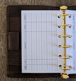 Pocket planner 40 expense sheets refill - vf planner pages