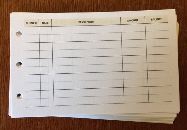 M2 planner expense sheets - vanilla folders