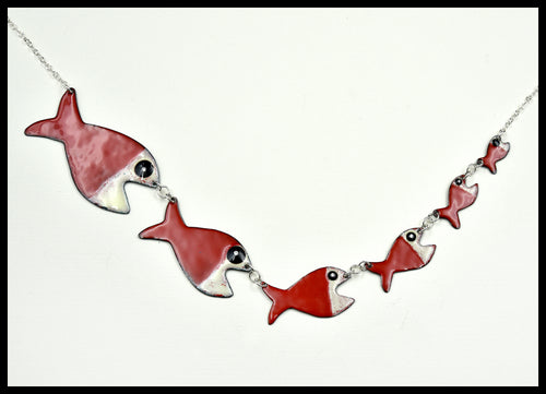 Fish Eat Fish Necklace