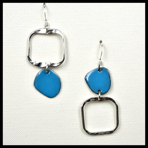 Lost In Shape, Asymmetrical Square Earrings