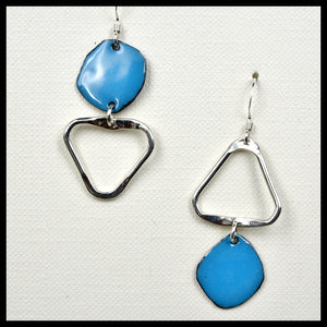 Lost In Shape Asymmetrical Triangle Earrings