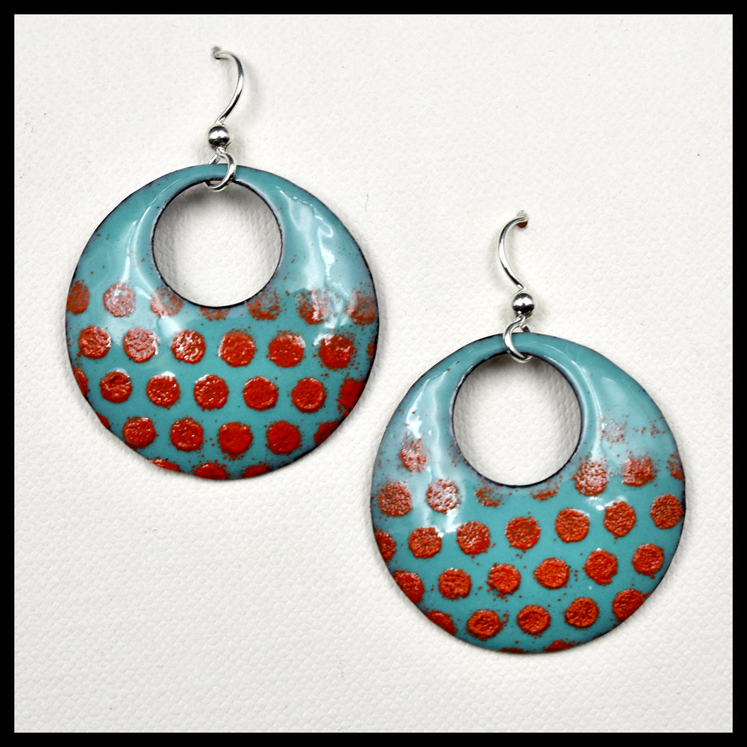 Boho Polka Dot Earrings