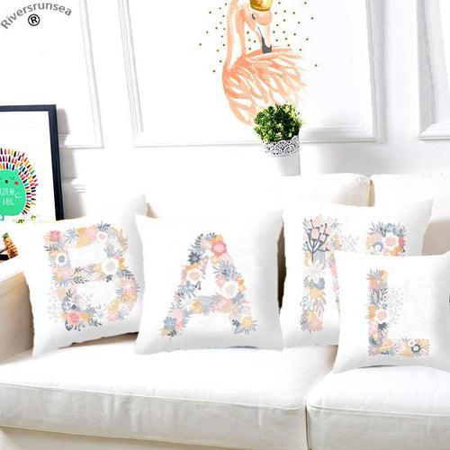 Alphabet Cotton Cushions