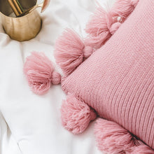 Knitted Cushion with tassels