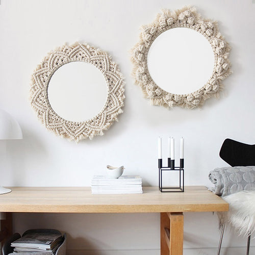 100% Cotton Macrame Mirror
