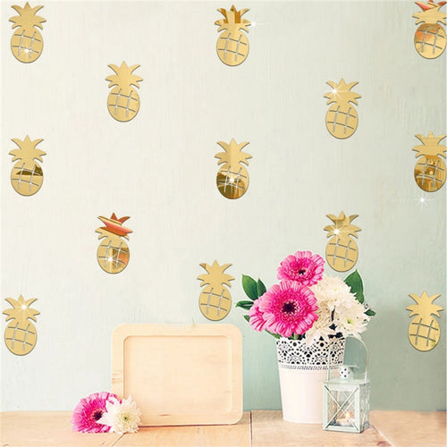 3D Acrylic Mirror Pineapple Stickers
