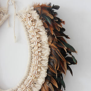 Handmade Macrame Feather Wall hanging