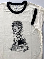 Cat Vonnegut Ringer Tee - United State of Indiana: Indiana-Made T-Shirts and Gifts