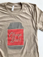 Cheap Beer Tee - United State of Indiana: Indiana-Made T-Shirts and Gifts