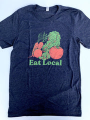 Eat Local Garden Tee - United State of Indiana: Indiana-Made T-Shirts and Gifts