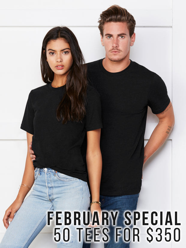 February Special: 50 Tees for $350