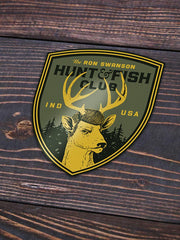 Swanson Hunt and Fish Club Sticker - United State of Indiana: Indiana-Made T-Shirts and Gifts