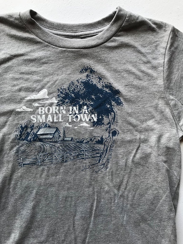 Born in a Small Town Youth Tee - United State of Indiana: Indiana-Made T-Shirts and Gifts