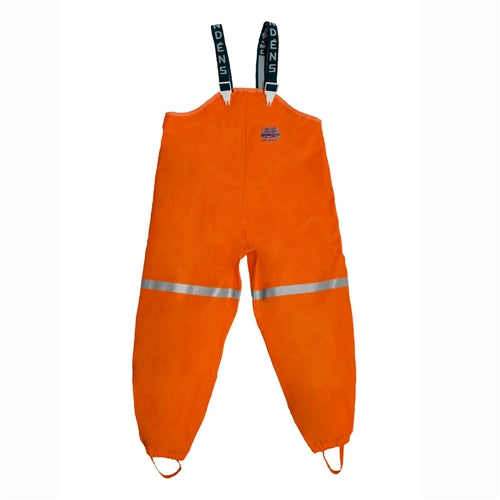 Zenith Bibbed Orange Rain Pant