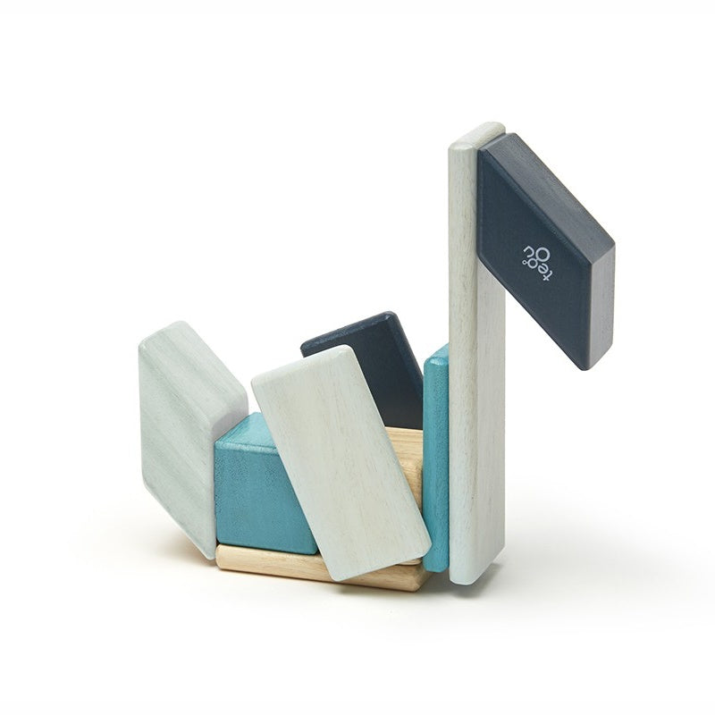 Magnetic Blocks 14-piece Set in Tegu Blues