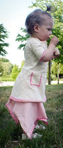 Organic Rose Dress to Skirt Combo