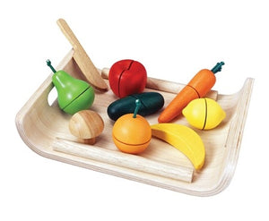 Assorted Fruit & Vegetable Play Set from Plan Toys