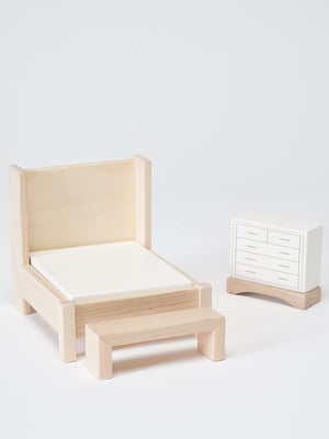 Bedroom Dollhouse Furniture Set