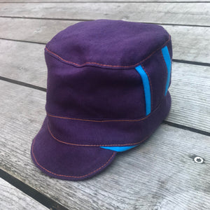 Purple Organic Hemp Conductor Hat