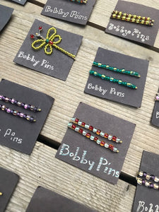 Beaded Bobby Pins by Nillina Mason Campbell