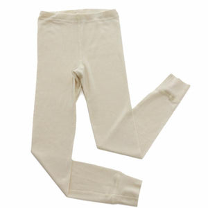 Natural Wool Silk Long Underwear Pants
