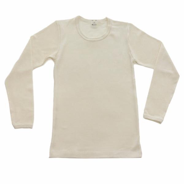 Natural  Wool Silk Long Sleeve Under Shirt