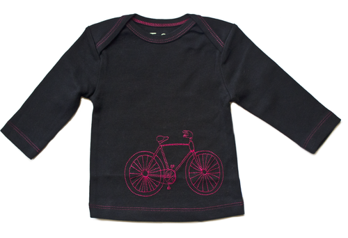 Red Bicycle Baby Long Sleeve Tee