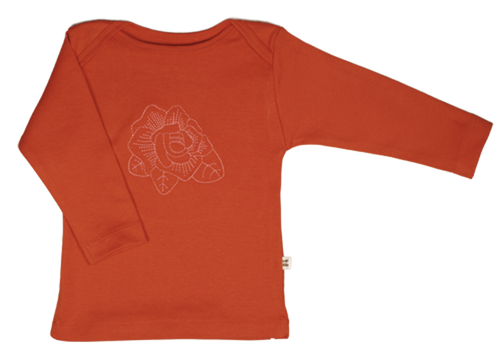 Orange Rose Baby Long Sleeve Tee