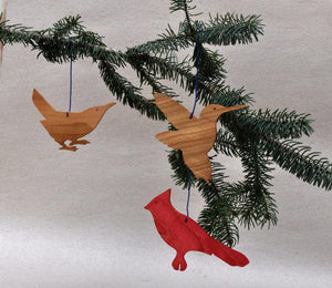 Birds-  Hand Made Wooden Ornaments