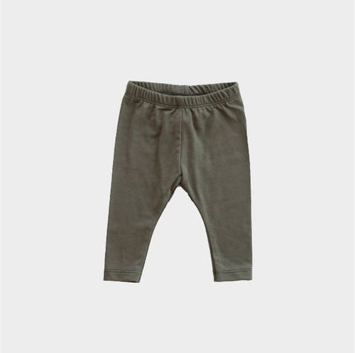 Basic Bamboo Leggings in Olive