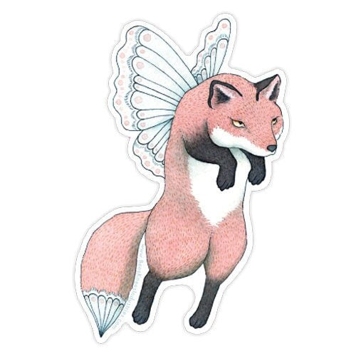 Fox Faerie Vinyl Sticker