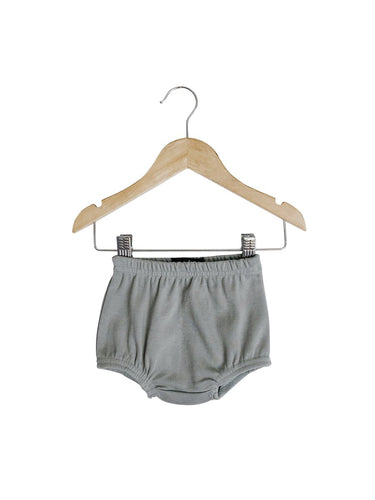 Grey Organic Cotton Baby Bloomers
