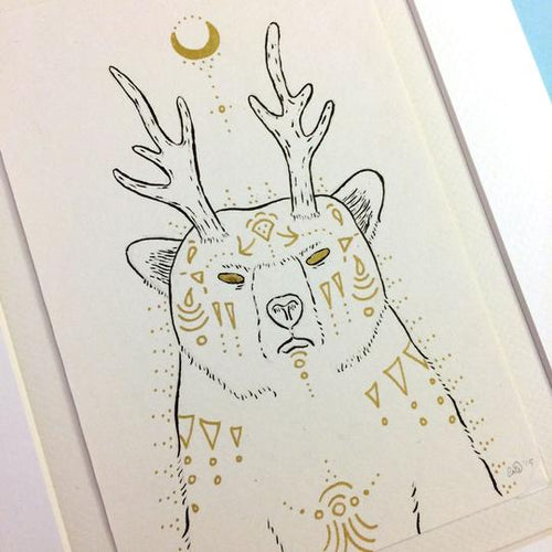 Fantastical Forest Bear Print