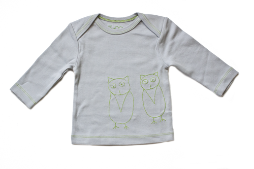 Two Owls Baby Long Sleeve Tee