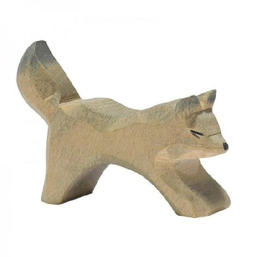 Wooden Small Wolf Figure