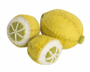 Set of Wool Felt Lemons