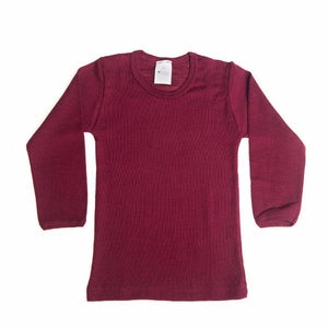Raspberry Wool Silk Long Sleeve Under Shirt