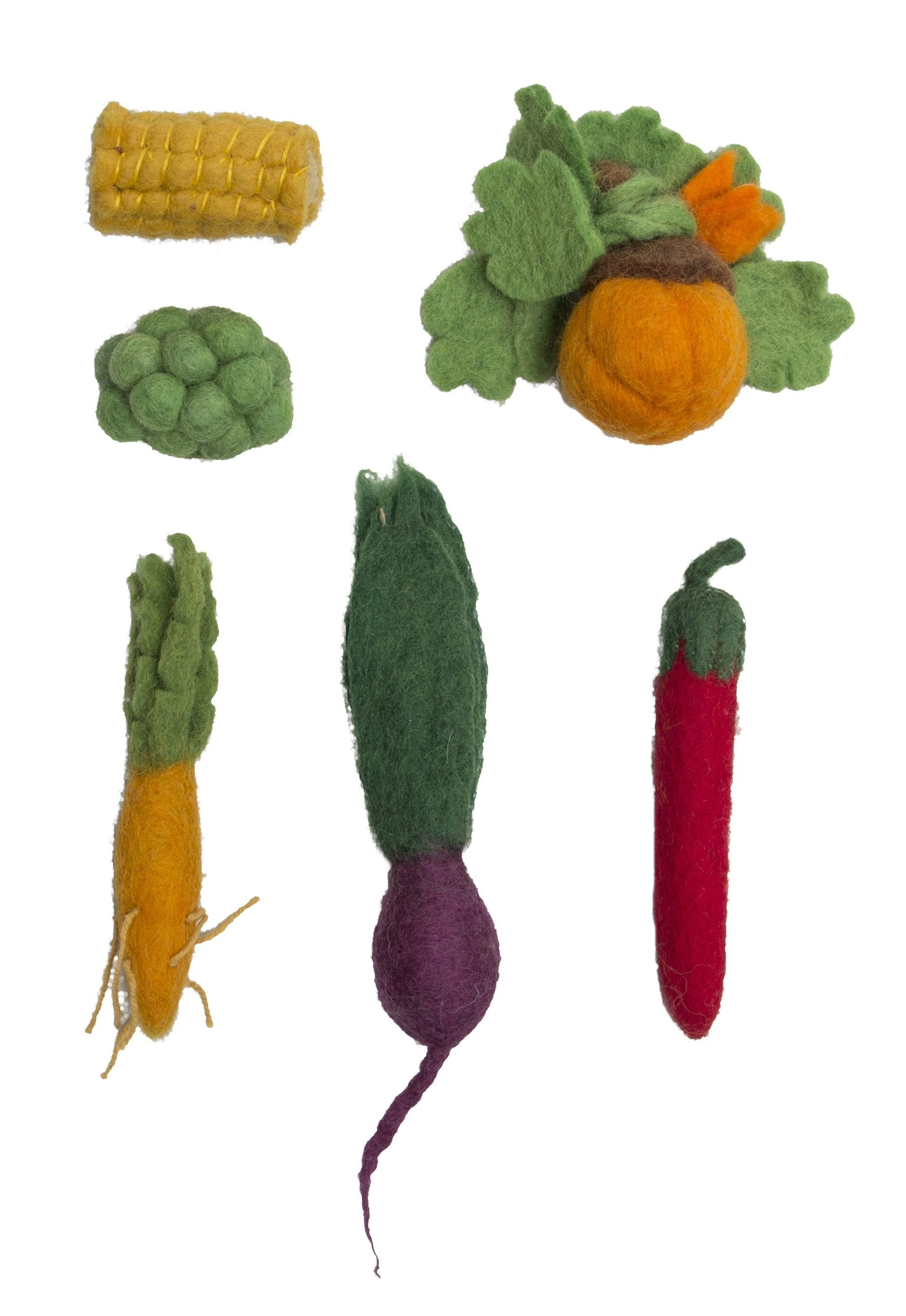 Wool Veggies Set
