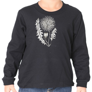 Monochrome Dandelion Long Sleeve Tee
