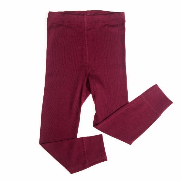Bordeaux Wool Silk Long Underwear Pants