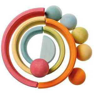 Set of Pastel Wood Balls