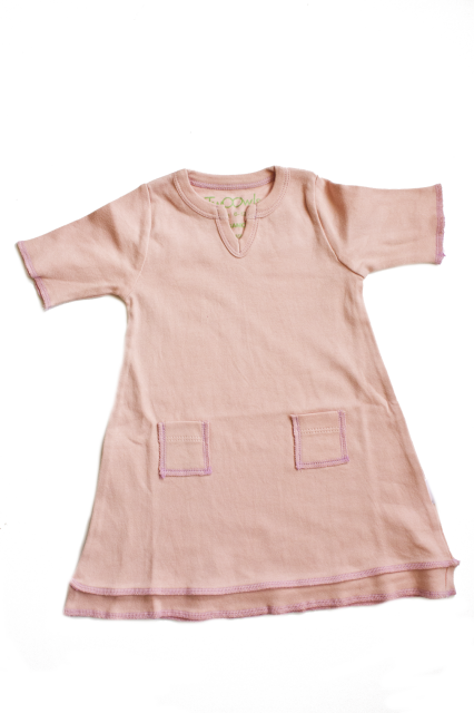 Organic Soft Rose Baby Tunic Dress