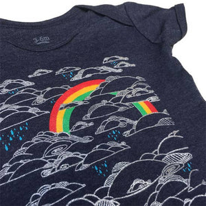 Rainbow in the Clouds  Bodysuit Onesie