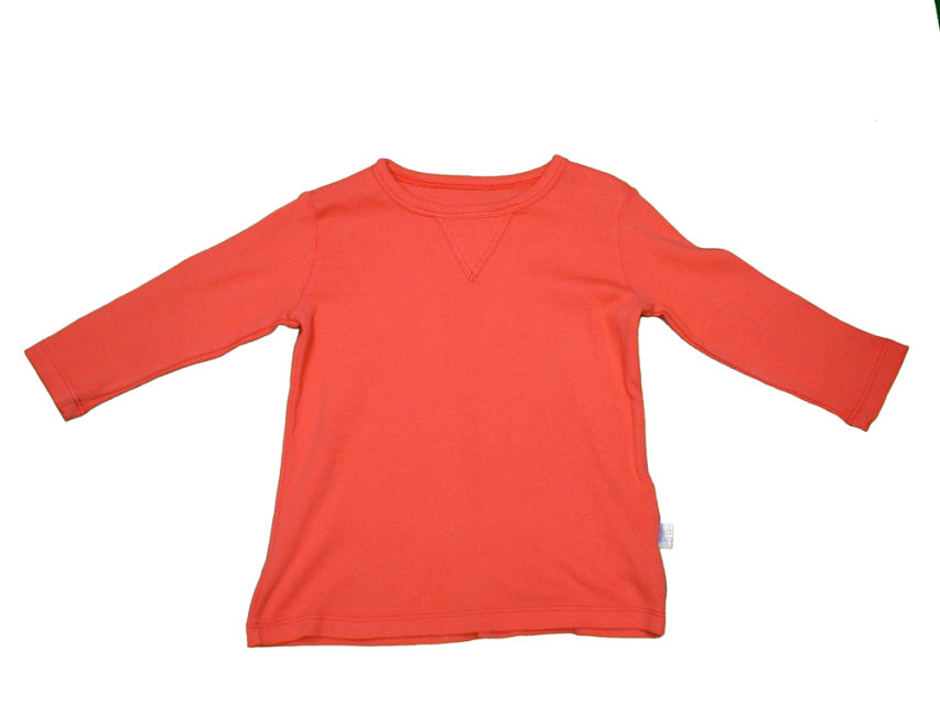 Red Orange Long Sleeve Tee