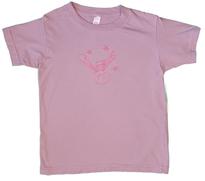 TwOOwls Lavender/Pink Fairy Short Sleeve Tee -100% organic cotton-Made in the USA