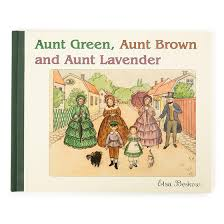Aunt Green, Brown and Lavender