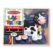 Farm Animals Lace and Trace